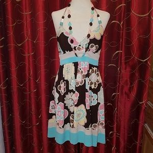 XOXO Floral Halter Dress